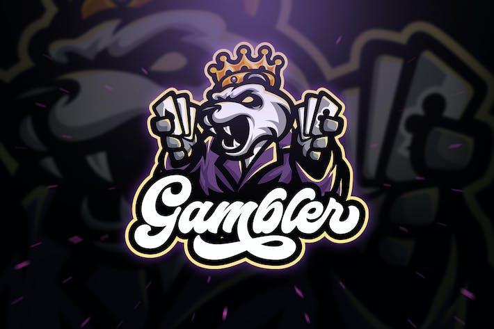 Thumbnail for Игрок Панда Спорт и Esport Логотип