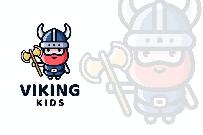 Thumbnail for Viking Kids Logo Template