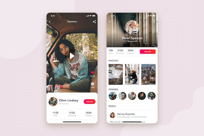 Cover Image For User Profile mobile interface concept