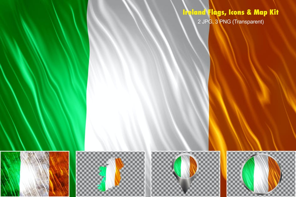 Download Ireland Flags Icons Map Kit by StrokeVorkz