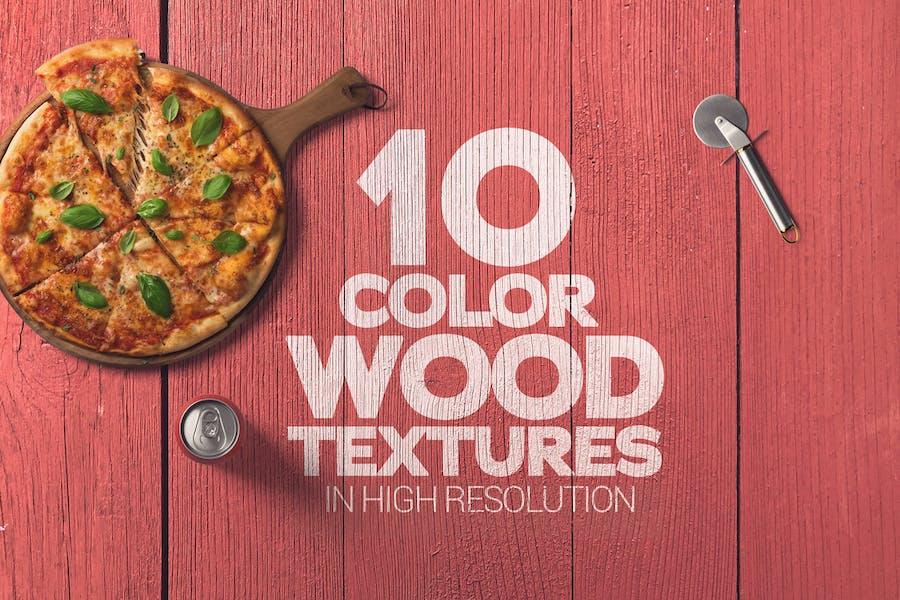 Color Wood Textures x10