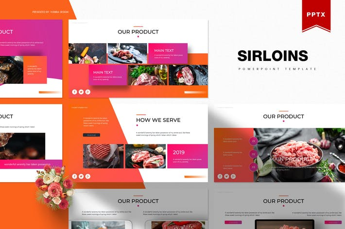 Thumbnail for Sirloins | Powerpoint Template