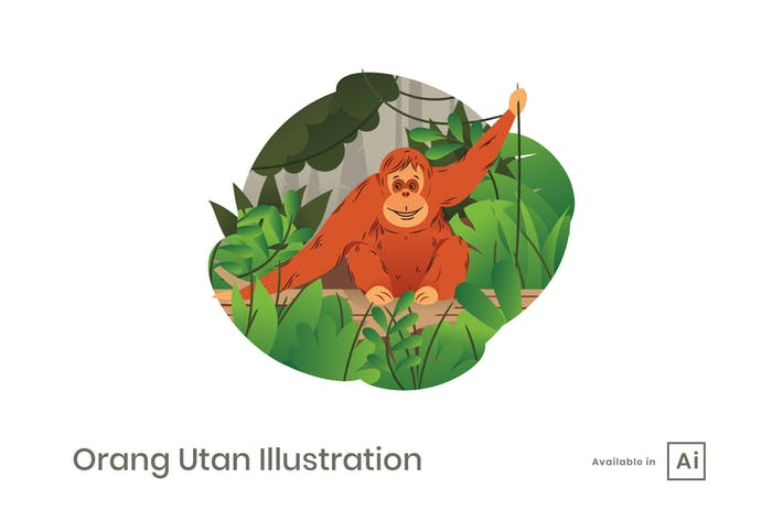 Thumbnail for Orang Utan Illustration