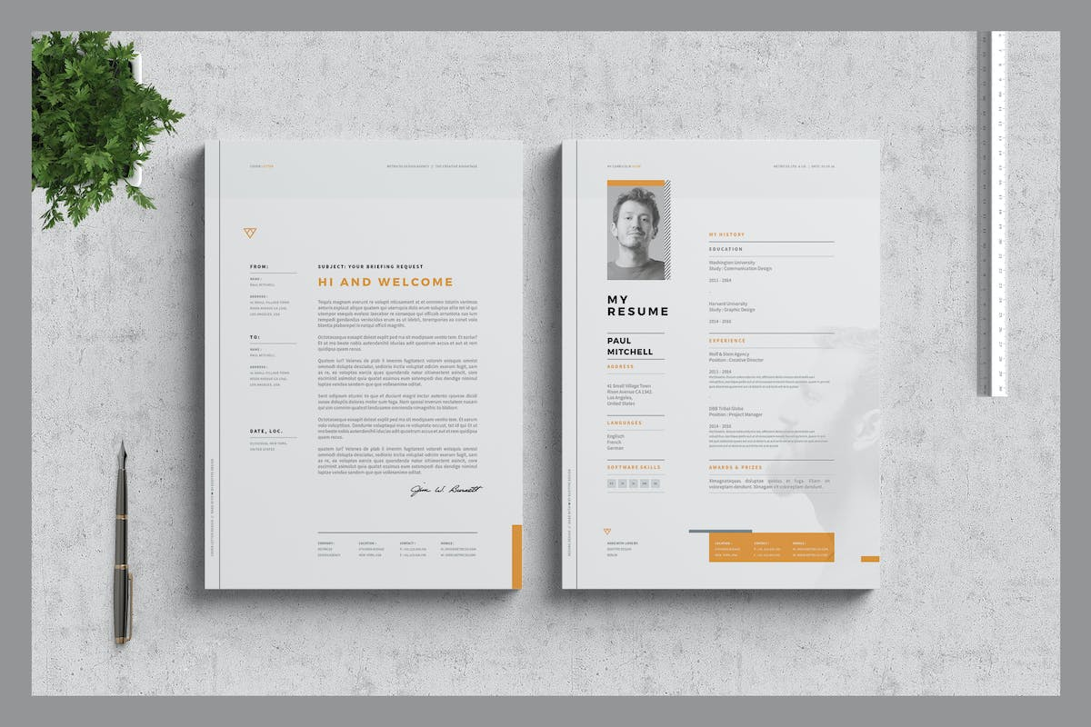 resume and cover letter by egotype on envato elements