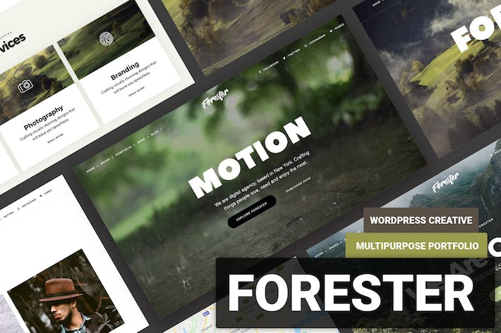 Cover Image For Elementor Onepage Portfolio WordPress  - Forester