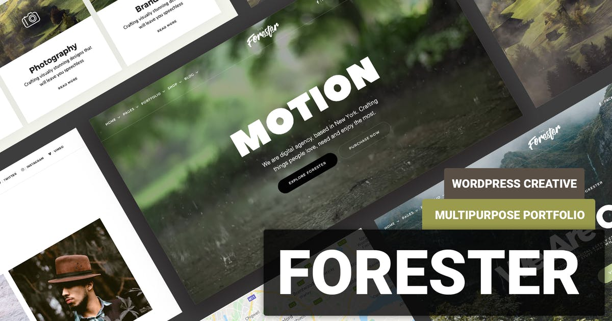 Download Minimal Portfolio WordPress Theme - Forester by Ninetheme