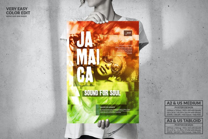 Thumbnail for Jamaica - Big Music Poster Design