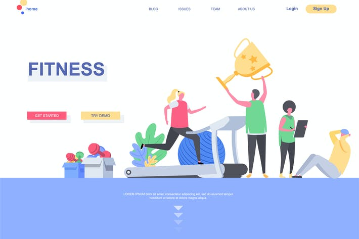 Thumbnail for Fitness Landing Page Template