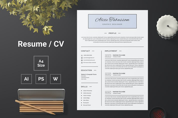 Thumbnail for Resume Template 102