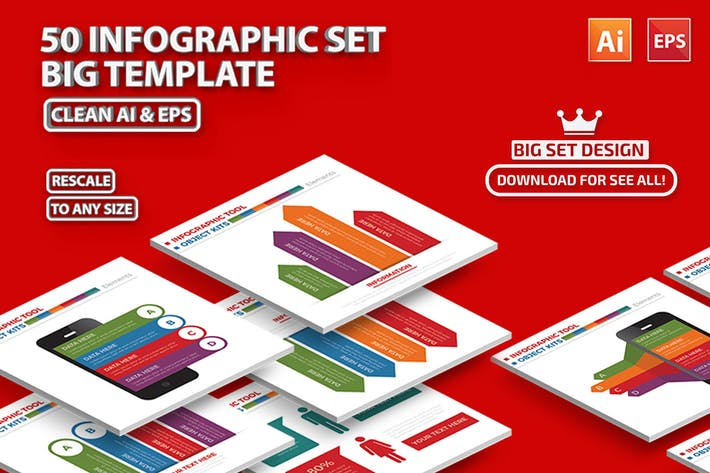 Thumbnail for 50 Infographics Design