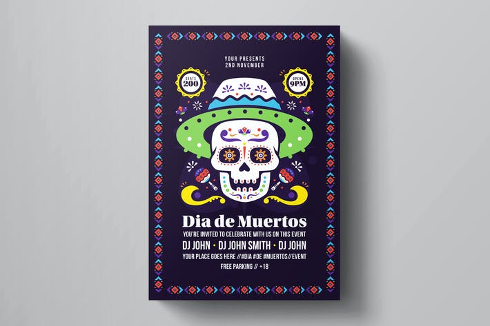 Cover Image For Dia De Los Muertos Flyer Template