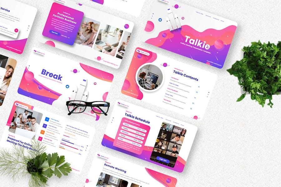 Talkie - Online Meeting Keynote Templates