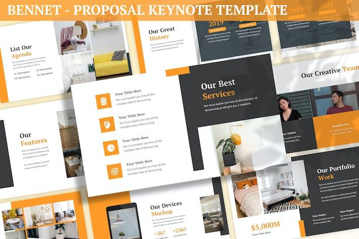 Thumbnail for Bennet - Proposal Keynote Template