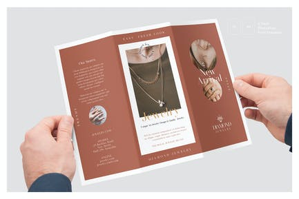 Jewelry Store Trifold Brochure