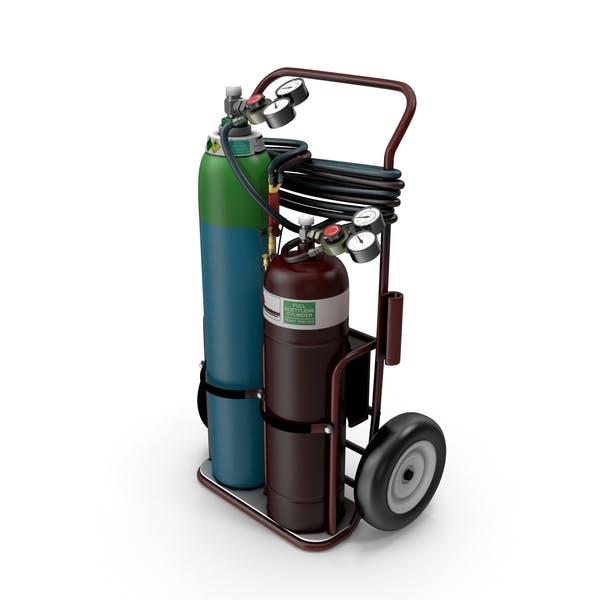 Oxygas Welding Trolley