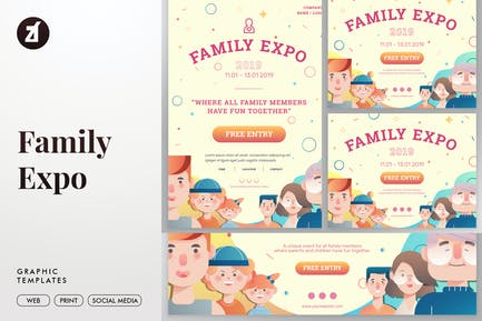 Family Expo Graphic Templates