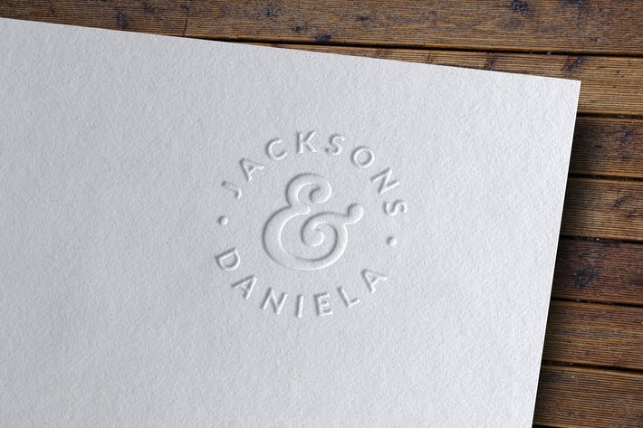 Thumbnail for Embossed Logo Mockup