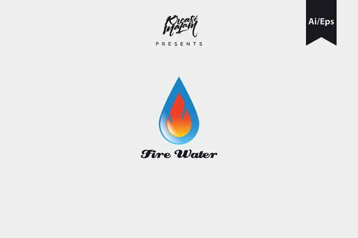 Thumbnail for Fire Water Logo Template