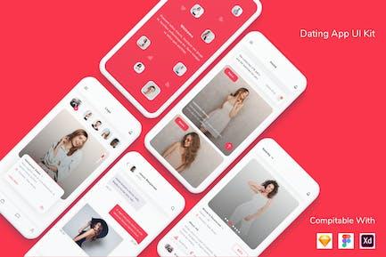 Kit d'interface utilisateur de Appli de rencontres