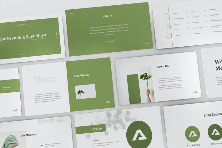 Thumbnail for Oreola Branding Guidelines Powerpoint Template