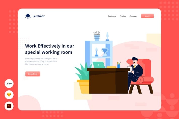 Thumbnail for Work Hard - Website Header - Illustration