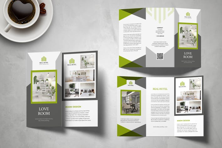 Room Hotel Trifold Brochure