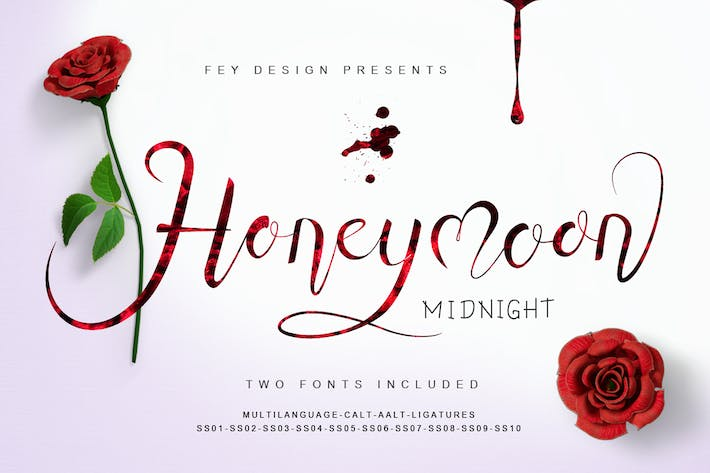 Thumbnail for Honey Moon Midnight - Two Fonts
