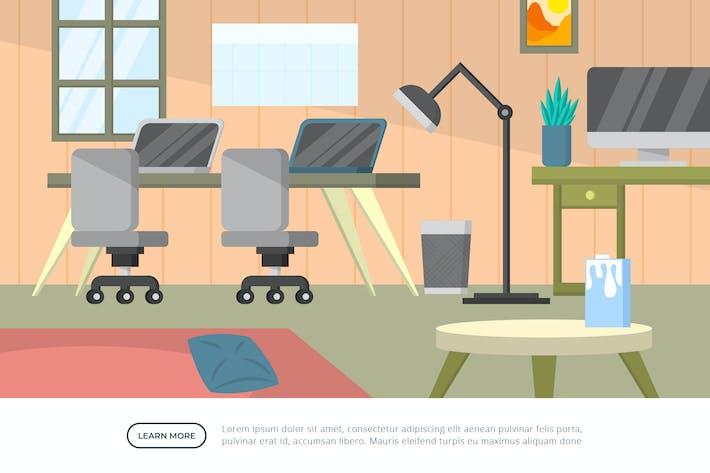 Studiodesign - Hintergrund-Illustration innen