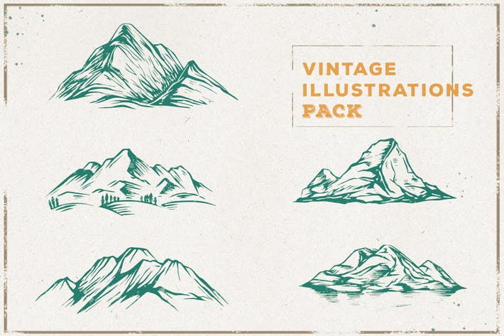 Thumbnail for Vintage Mountain Illustration Pack