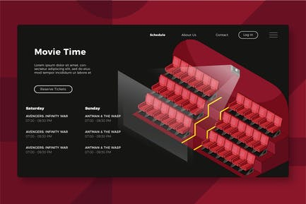 Movie Theater - Banner & Landing Page