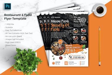 Restaurant & food Flyer Template vol-04