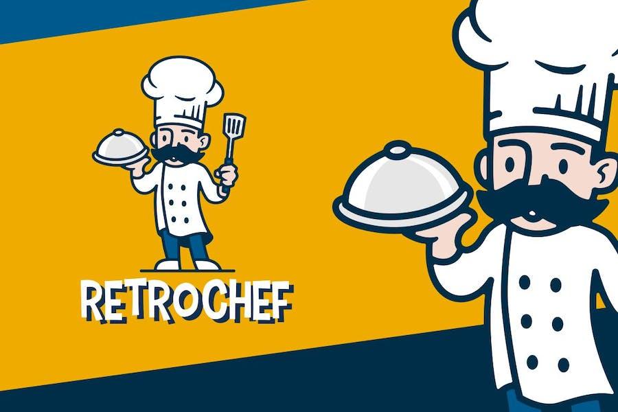 Chef Retro Mascot Logo