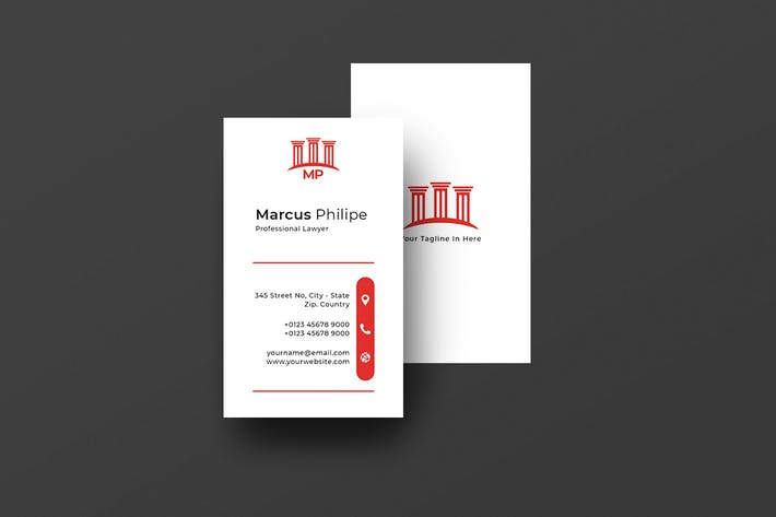 Vertical Business Card Lawyer Vol. 3