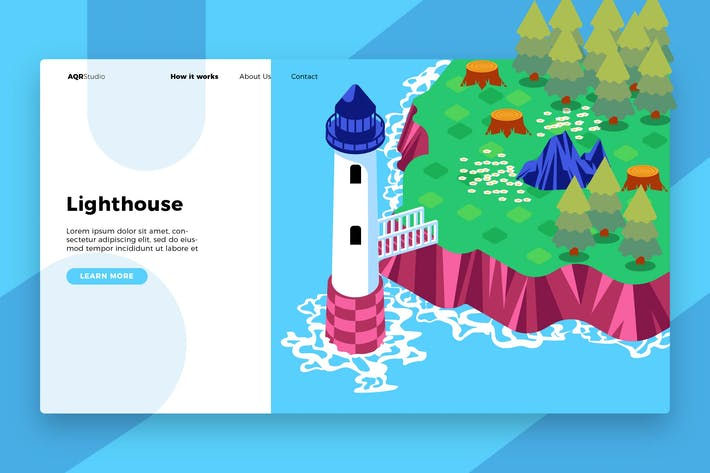 Thumbnail for Lighthouse - Banner & Landing Page