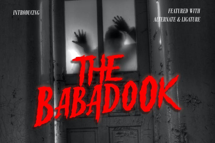 Thumbnail for Babadook - Halloween Font