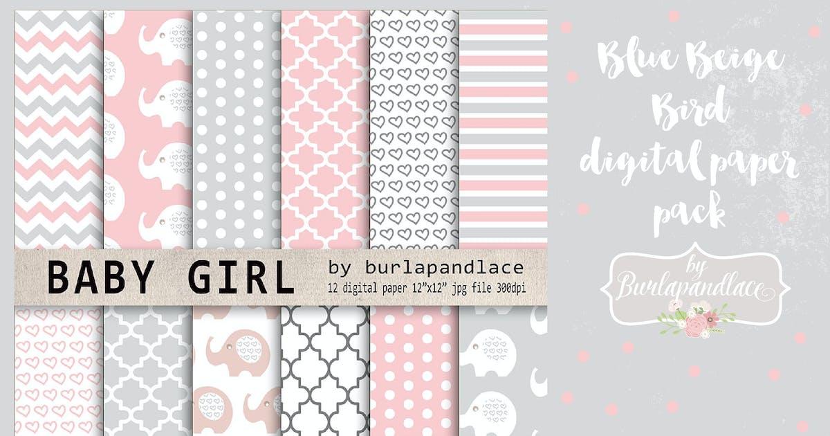 Download Baby girl digital paper pack by burlapandlace