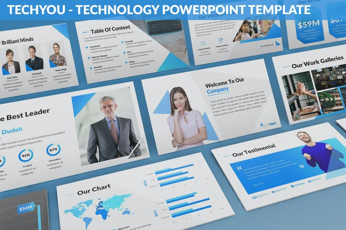Thumbnail for TechYou - Technology Powerpoint Template