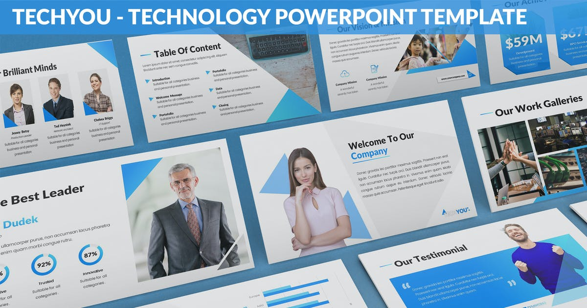 Download TechYou - Technology Powerpoint Template by SlideFactory