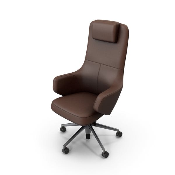 Office Chair Brown Stylized