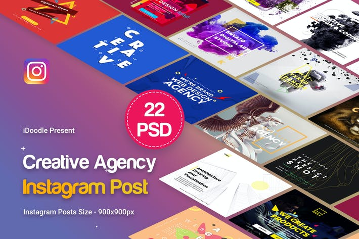 Thumbnail for Agency Instagram Posts - 22 PSD
