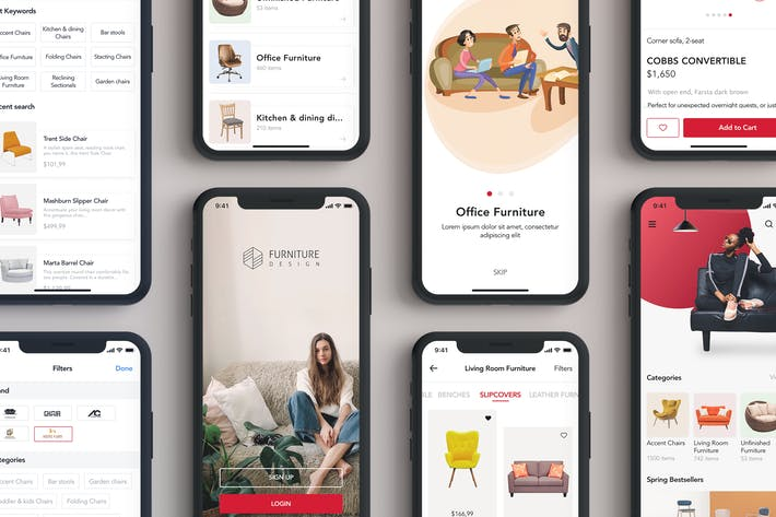 Thumbnail for Furniture Design UI Kit