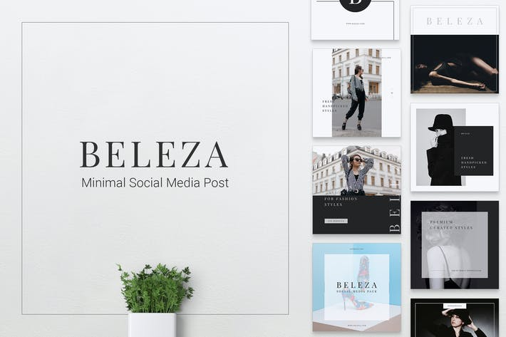 Thumbnail for BELEZA Fashion Instagram & Facebook Post