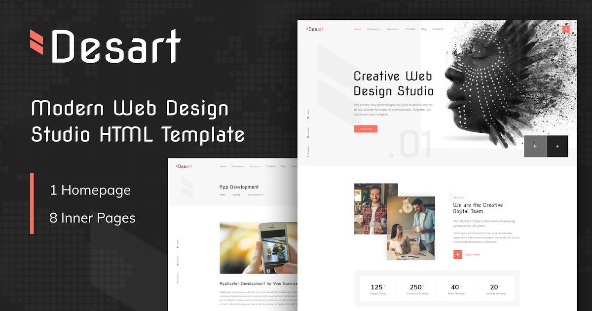 Download Desart - Creative Web Design Studio HTML Template by George_Fx