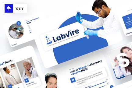 Labvire - Science Research Keynote Template