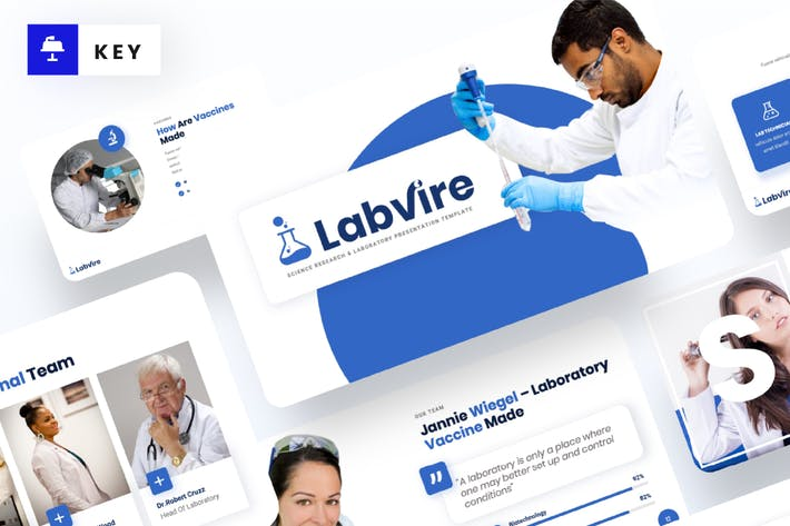 Thumbnail for Labvire - Science Research Keynote Template