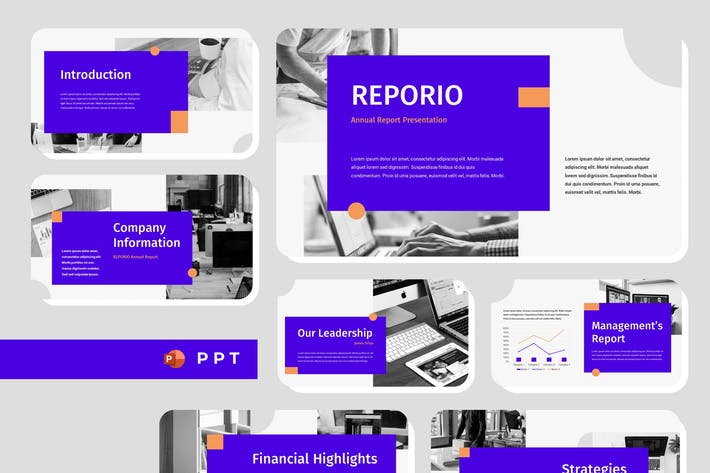 Thumbnail for REPORIO - Jährlich bericht Powerpoint-Vorlage
