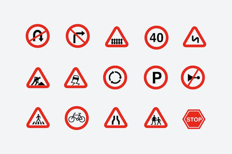 15 Traffic and Road Signs