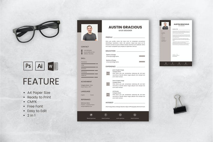 Thumbnail for Professional CV And Resume Template Gracious