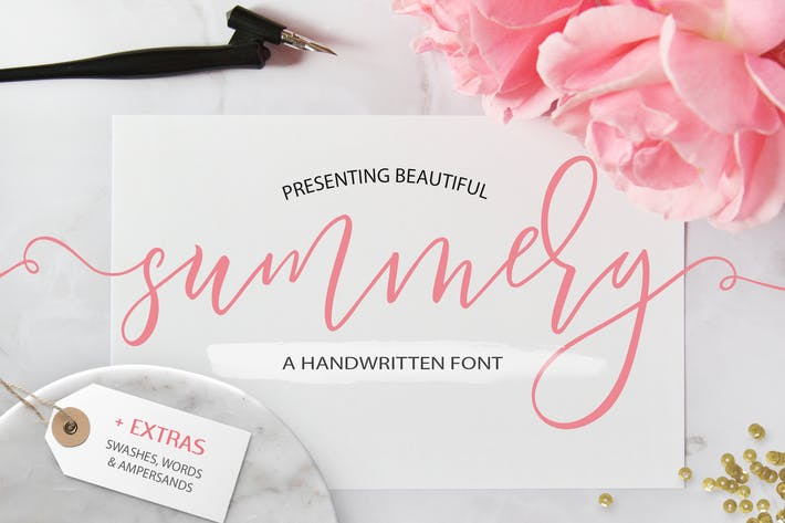 Thumbnail for Summery Handwritten Calligraphy Font
