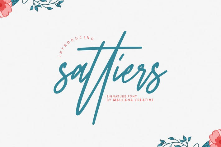 Thumbnail for Sattiers Signature Font
